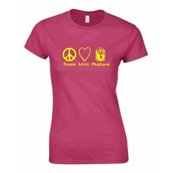 Peace Love Mustard T-shirt Ladies